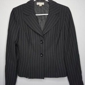 Bebe Black Pin Stripe 2 Button Blazer Size 6/Small